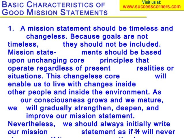 mission statement for a person