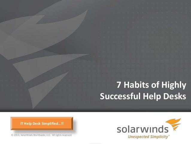 7 Habits of Highly                                                              Successful Help Desks        IT Help Desk ...