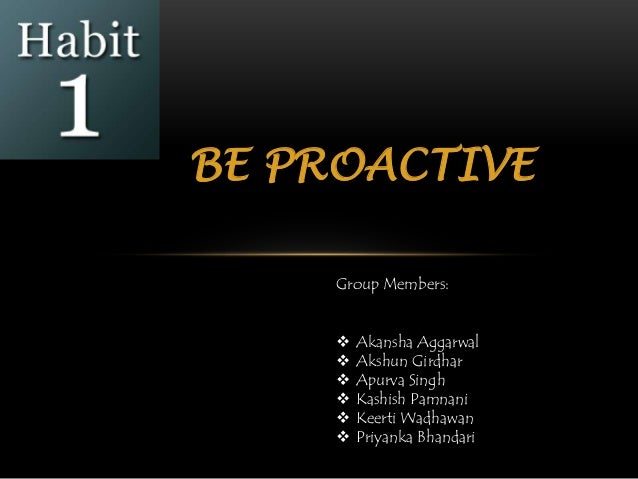 how to become a proactive member