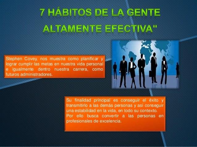 Stephen Covey, nos muestra como planificar y lograr cumplir las metas en nuestra vida personal e igualmente dentro nuestra...