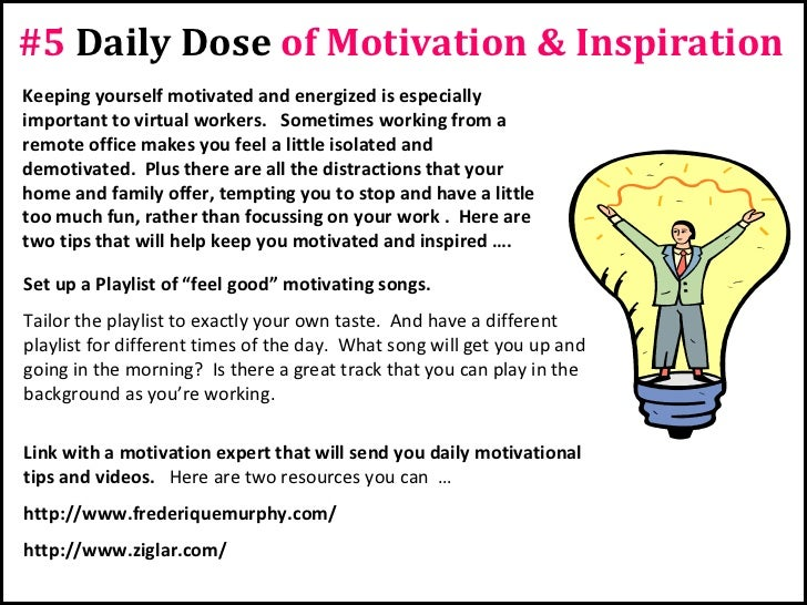 7 healthy habits for successful virtual workers (part 2) Slide 2