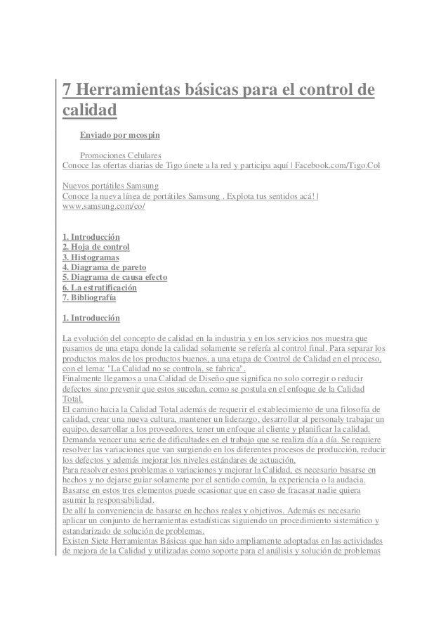 7 Herramientas básicas para el control de calidad Enviado por mcospin Promociones Celulares Conoce las ofertas diarias de ...