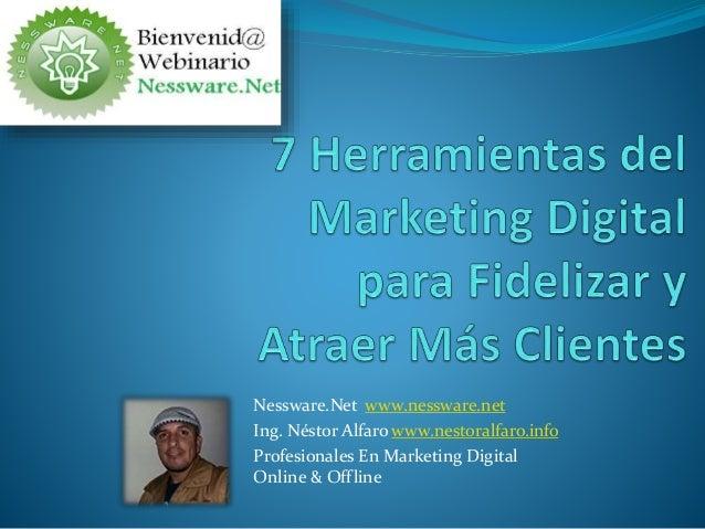 Nessware.Net www.nessware.net Ing. Néstor Alfaro www.nestoralfaro.info Profesionales En Marketing Digital Online & Offline
