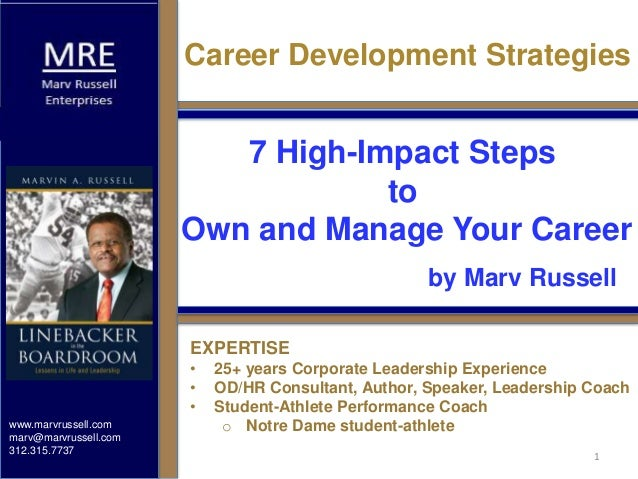 www.marvrussell.com marv@marvrussell.com 312.315.7737 EXPERTISE • 25+ years Corporate Leadership Experience • OD/HR Consul...
