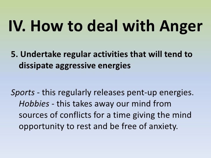 how to handle anger pdf