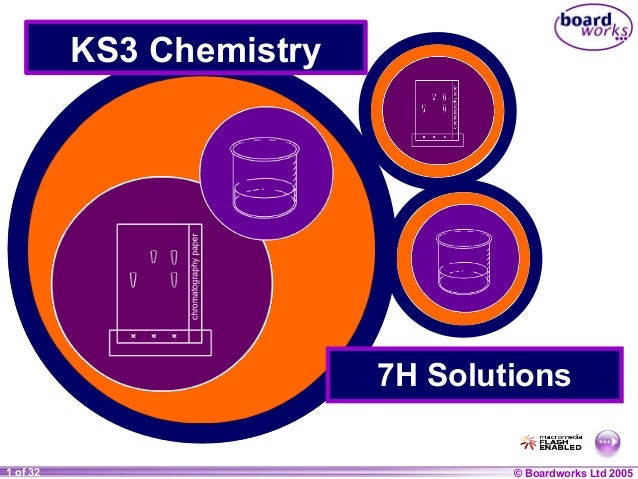 KS3 Chemistry  7H Solutions 1 of 32 20  © Boardworks Ltd 2004 2005