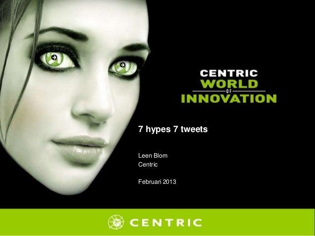 7 hypes 7 tweetsLeen BlomCentricFebruari 2013
