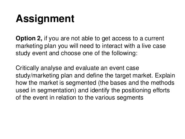 Assignment 3 case 7 2 carmakers target