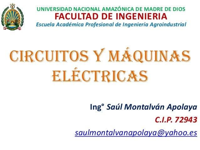 UNIVERSIDAD NACIONAL AMAZÓNICA DE MADRE DE DIOS FACULTAD DE INGENIERIA Escuela Académica Profesional de Ingeniería Agroind...