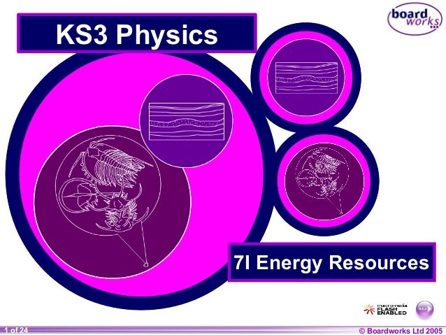 KS3 Physics  7I Energy Resources  1 of 24 20  © Boardworks Ltd 2004 2005