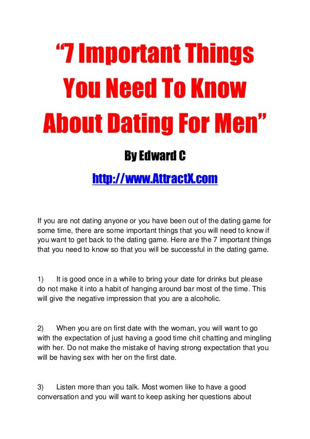 Things not to do when dating a man