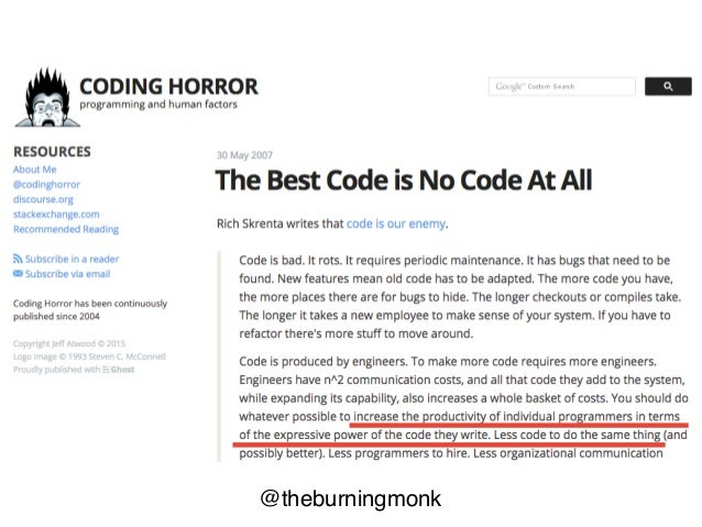 @theburningmonk You should do whatever possible to increase the productivity of individual programmers in terms of the exp...