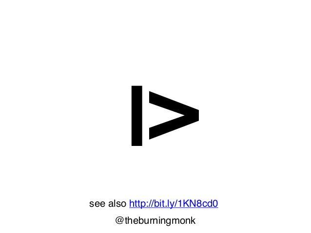 @theburningmonk how we read CODE let drawCircle x y radius = circle radius  > filled (rgb 150 170 150)  > alpha 0.5  > move...