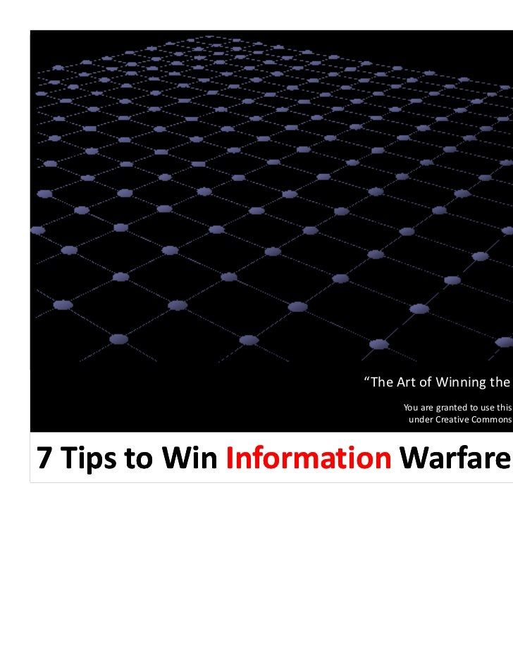 "bobrowen.com                      ""The Art of Winning the Information War""                            You are granted to u..."