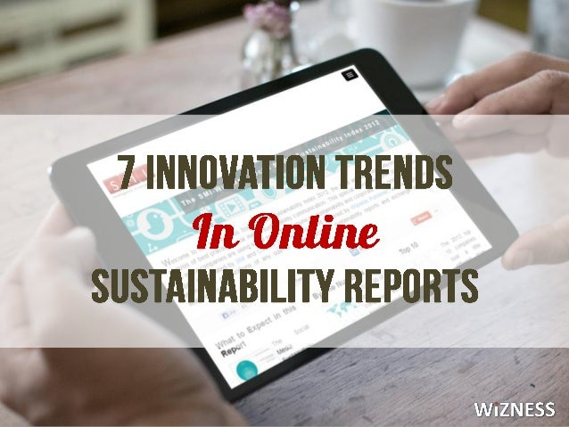 7 Innovations in Online Sustainability Reports