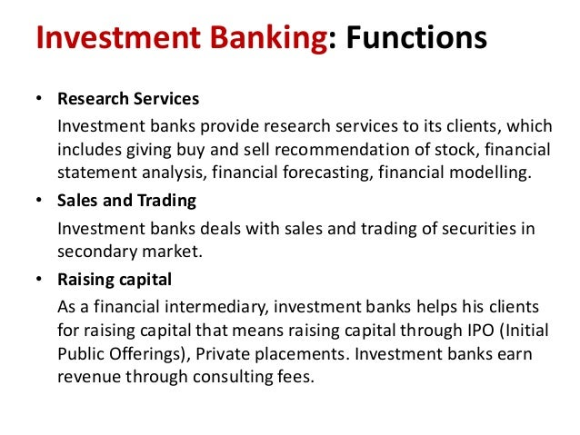 What is investment banking means