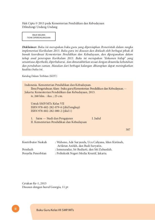 Buku Panduan Guru Ipa Kelas 7 Kurikulum 2013