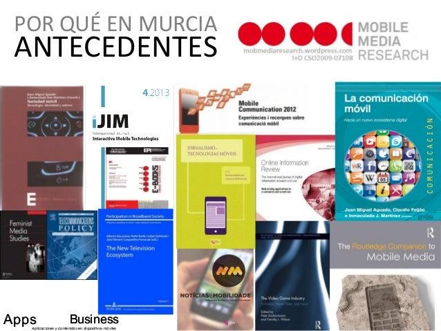 ANTECEDENTES Apps BusinessAplicaciones y contenidos en dispositivos móviles Apps BusinessAplicaciones y contenidos en disp...