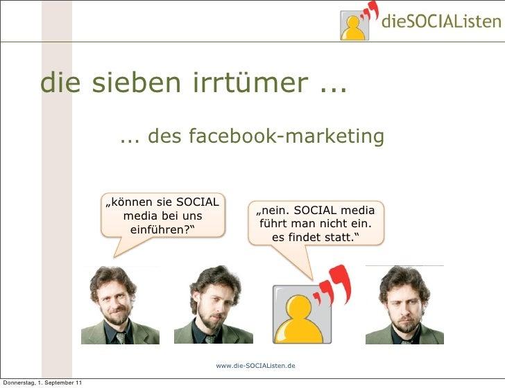 """die sieben irrtümer ...                                ... des facebook-marketing                              """"können sie..."""