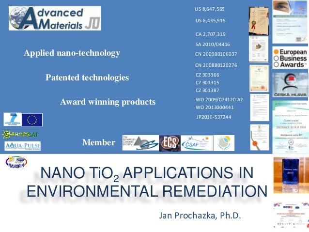 Patented technologies  CZ 301315  CZ 301387  SA 2010/04416  CZ 303366  US 8,435,915  CA 2,707,319  CN 200980106037  CN 200...