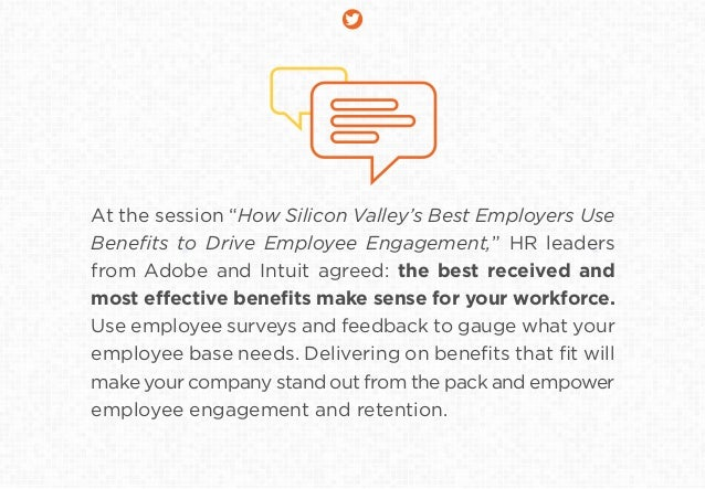 """At the session """"How Silicon Valley's Best Employers Use Benefits to Drive Employee Engagement,"""" HR leaders from Adobe and I..."""