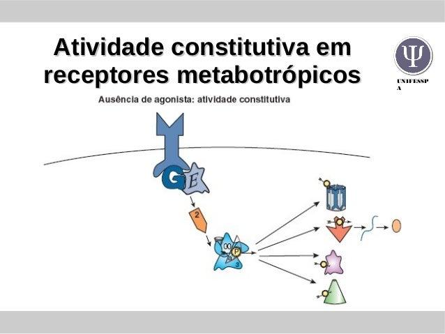 UNIFESSP A Atividade constitutiva emAtividade constitutiva em receptores metabotrópicosreceptores metabotrópicos