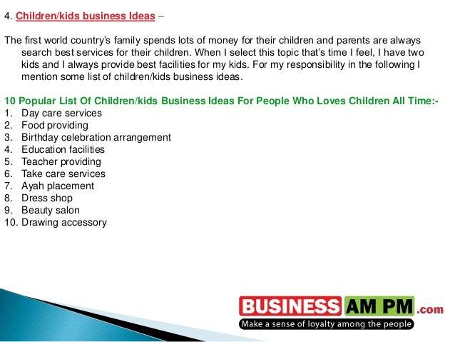 Highly Profitable Business Ideas