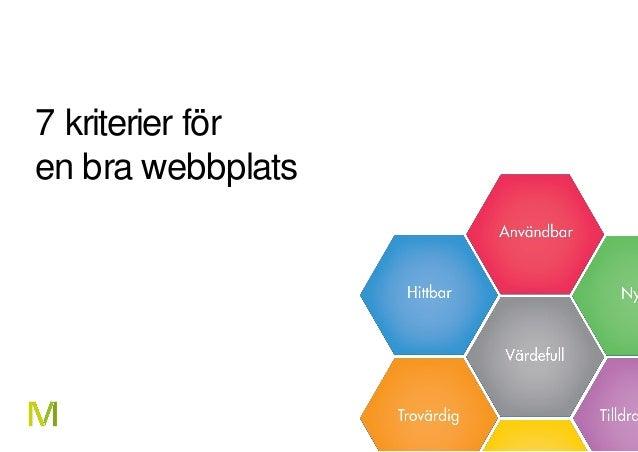 1 7 kriterier för en bra webbplats