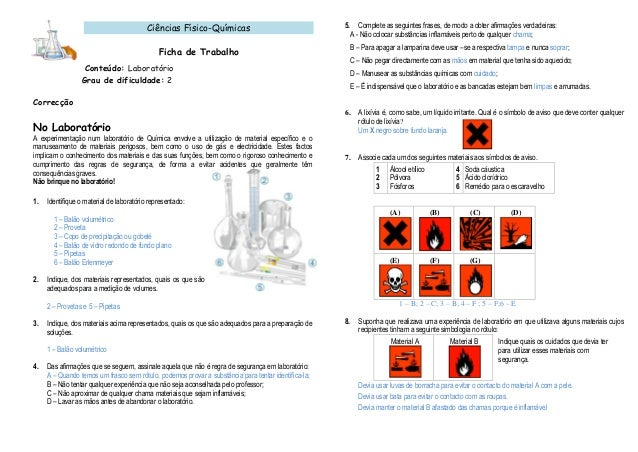 Simbolos de segurança de laboratorio