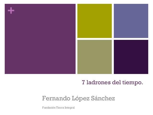 + 7 ladrones del tiempo. Fernando López Sánchez Fundación Tierra Integral