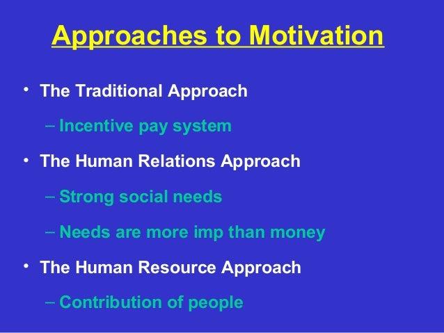 Feldman outlines seven approaches to motivation