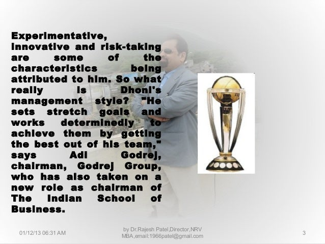 7 leadership lesson of from m.s.dhoni's captancy Slide 3