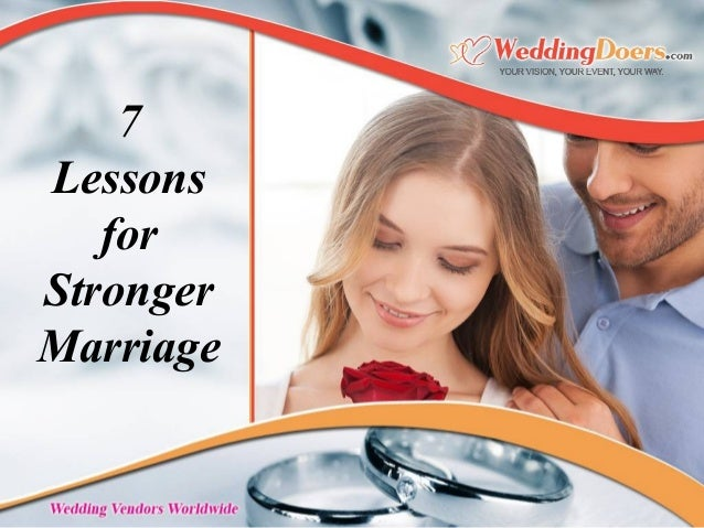 7 Lessons for Stronger Marriage