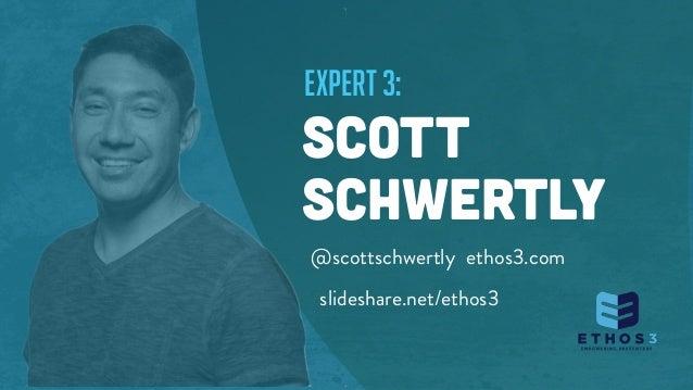 expert 3: SCOTT SCHWERTLY @scottschwertly ethos3.com slideshare.net/ethos3