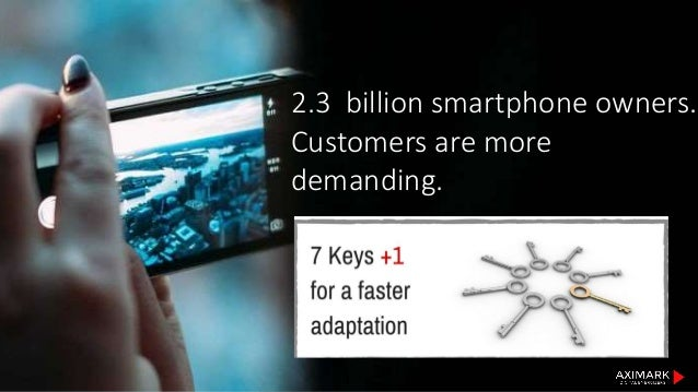 2.3 billion smartphone owners. Customers are more demanding.