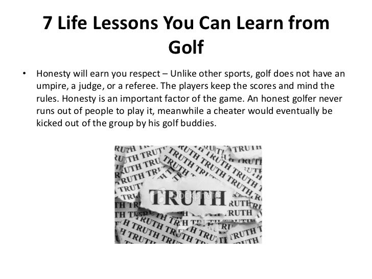 7 life lessons you can learn from golf