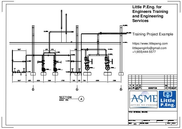 Piping design Training Project General Arrangements