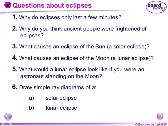 7 l the solar system beyond boardworks 27 questions about eclipses ccuart Images