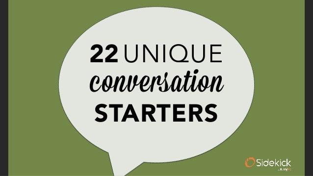 22 Unique Conversation Starters