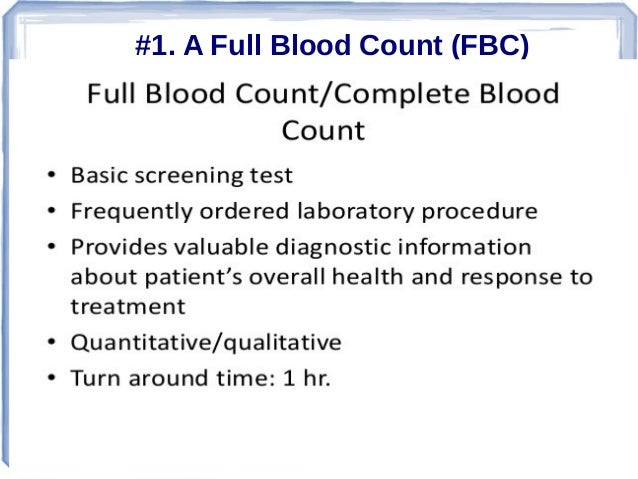 7 Main Types of Blood Test Slide 2