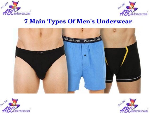 7 main types of men's underwear