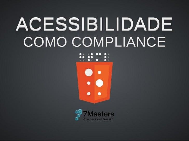 7Masters Acessibilidade Web - iMasters