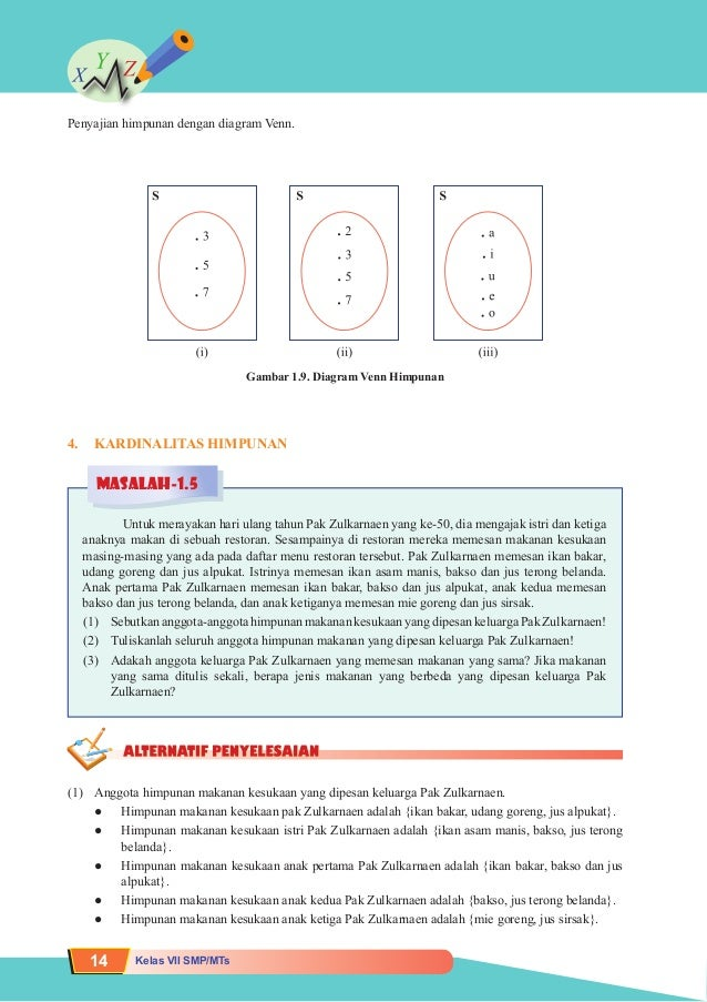 7 matematika bukusiswa matematika 13 22 penyajian himpunan dengan diagram venn ccuart Image collections