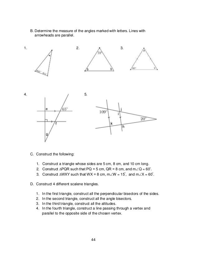 Printable Worksheets measuring line segments worksheets : 7 math lm mod4