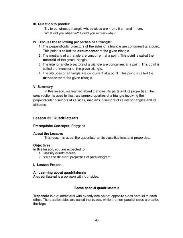 7 math lm mod4 – Constructing Triangles Worksheet