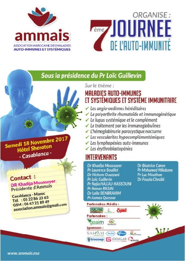 Livret des résumés des interventions à la 7ème journée de l'auto-immunité