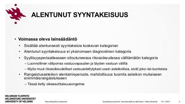 Alentunut Syyntakeisuus