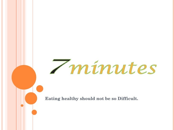 Eating healthy should not be so Difficult.