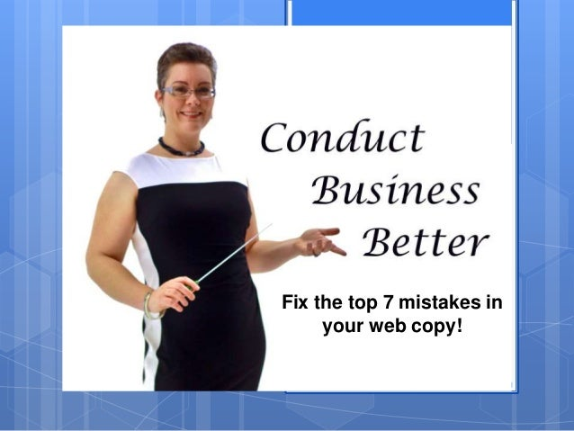 7 mistakes business owners make with their web copy Slide 2