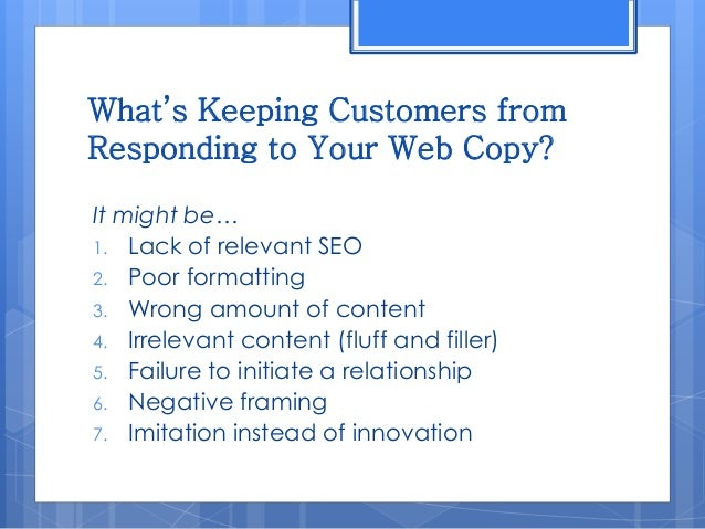 7 mistakes business owners make with their web copy Slide 3